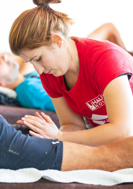 Post-stage massage